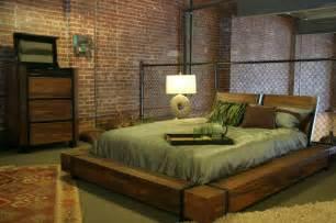 Homemade Floor Lamps by Industrial Chic Wood Platform Bed Industrial Bedroom