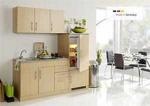 Küche 180 Cm : sch ne single k che mit k hlschrank 180 cm breit buche dekor ~ Watch28wear.com Haus und Dekorationen