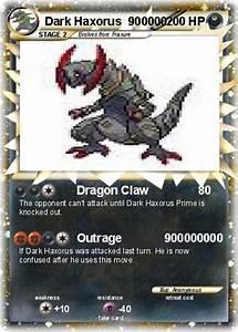 Pokémon Dark Haxorus 900000 900000 - Dragon Claw - My ...