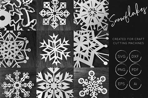 Decorate posters and backgrounds with this pack of snowflakes. Snowflake SVG Cut File Bundles - Christmas SVG - Snowflakes