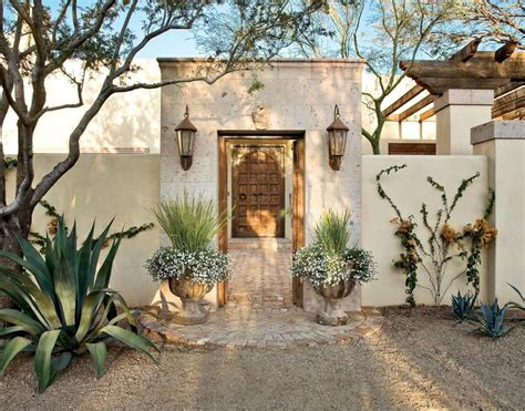 style courtyards colonial entry courtyard features a cantera