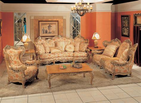 living room sets 2000 traditional floral print sofa with ornate wood