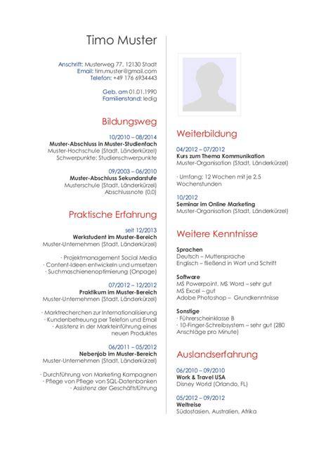 bewerbungsmuster fuer publisher lebenslauf designs