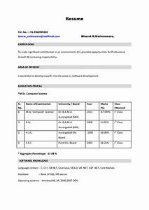new resume format for freshers it resume cover letter sample With job resume format pdf download free