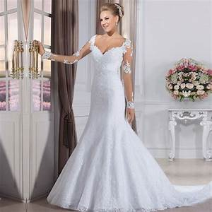 Vestido de noiva cheap fashion wedding gowns china bride for Wedding dresses with sleeves cheap