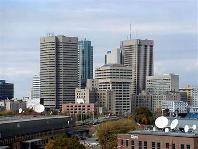 Winnipeg Downtown Buildings Forks Cluster Seen Wikimedia
