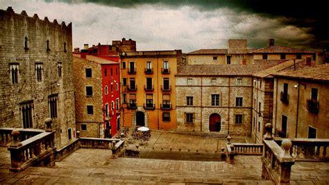 spain girona town landscape