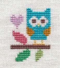Owl Cross Stitch Freebie