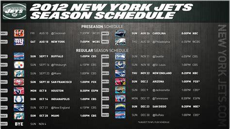 nfl  york jets  regular season schedule