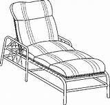 Lounge Furniture Chaise Coloring Pages sketch template