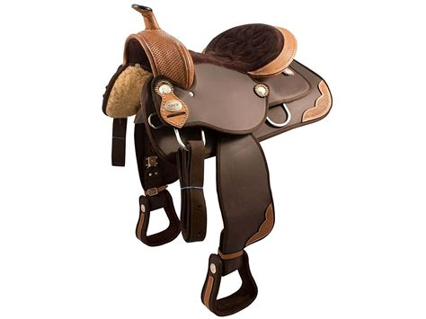 horse saddle western synthetic tack basket weave tahoe saddles leather trims wholesale topproducts silver accessories equestrian blankets arrow