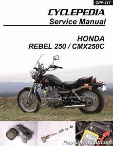 Honda Cmx250c Rebel 250 Cyclepedia Printed Motorcycle