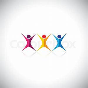 People, friends, children vector logo icons and design ...