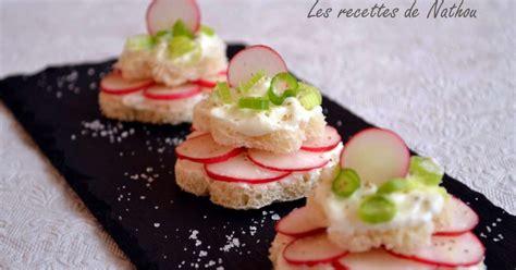 comment cuisiner le radis blanc petits toasts au fromage blanc et radis recette par ma