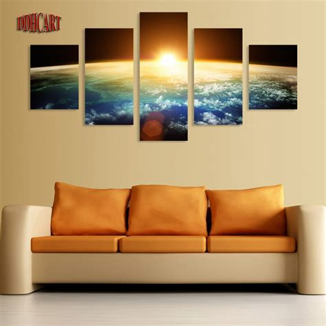 home decor wall posters 5 canvas wall prints painting space picture