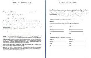 Service Contract Template Service Contract Template Free Contract Templates