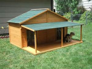 your big friend needs a large dog house mybktouchcom With large breed dog house plans