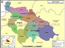 Map of Pest County, Hungary