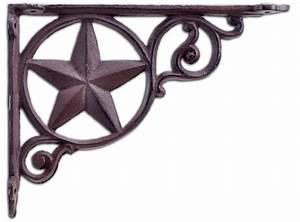 Decorative Shelf Bracket Rustic Star Texas Brace Rust
