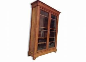 Bibliothèque En Bois Massif : meuble biblioth que vitr e ~ Teatrodelosmanantiales.com Idées de Décoration