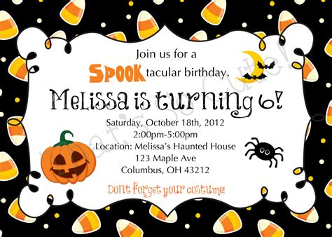 Halloween Potluck Invitation Sample by Halloween Themed Birthday Party Invitations Dolanpedia