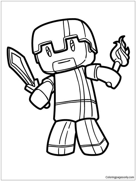 Coole Minecraft Kleurplaat by Minecraft Herobrine Coloring Page Free Coloring Pages