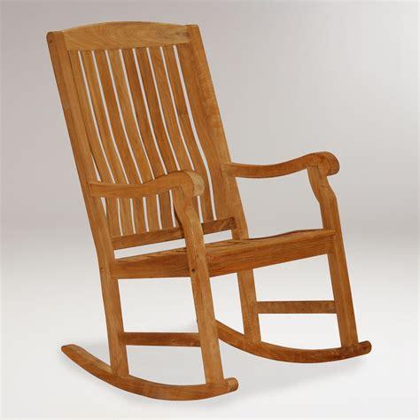 teak rocking chair world market world market