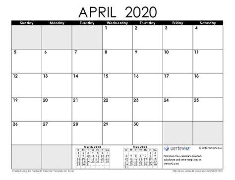 april editable calendar printable calendar