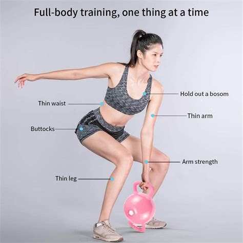 handle yoga filled kettlebell strength water weight fozdoo