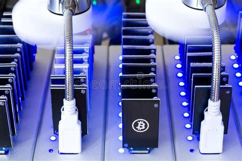 bitcoin mining device bitcoin mining stock image image of financial dust