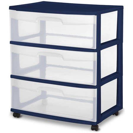 sterilite 3 drawer cart sterilite 3 drawer wide cart colors walmart