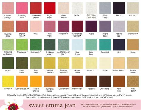 all color felt food patterns part 3