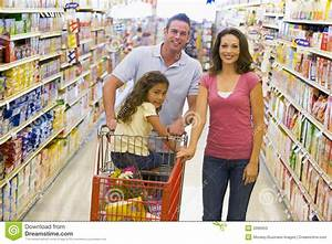 Young Family Grocery Shopping Stock Photos - Image: 5096953