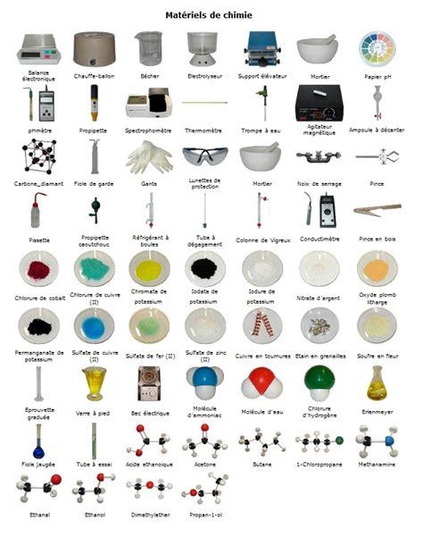 la chimie en cuisine matériel utilisé en chimie sciences physiques collège