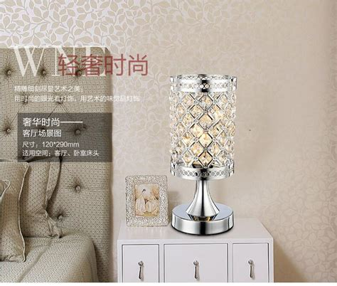 modern small crystal table lamps  bedroom bedside