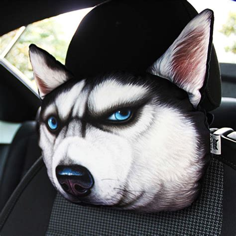 car headrest auto headrest lovely  printed animals face car seat covers neck auto safety