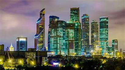 Moscow Business Center International Night Russia Market