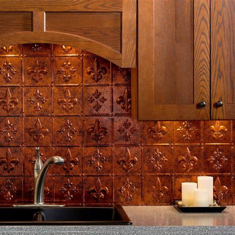 kitchen glossy copper tile backsplash  contemporary
