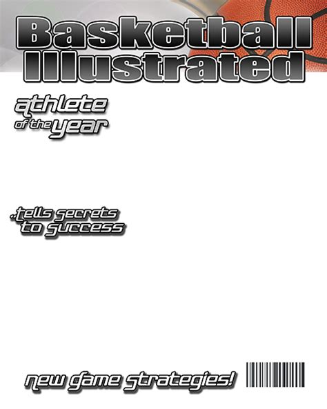 blank sport magazine cover template sports illustrated blank cover template