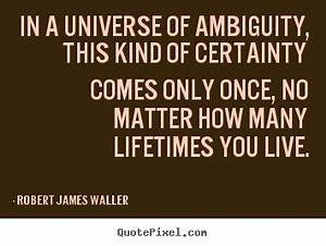 Quote about lov... Certainty Love Quotes