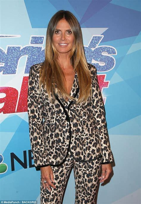 Heidi Klum Attends America Got Talent Red Carpet Daily