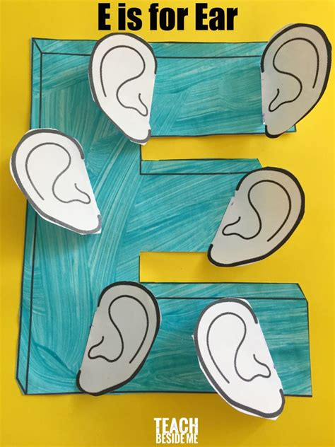 preschool letter e activities letter of the week teach 408   Preschool craft E is for Ear 768x1024