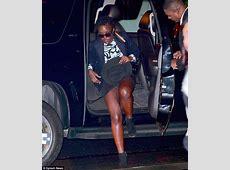 Lupita Nyong'o suffers wardrobe malfunction exiting car in