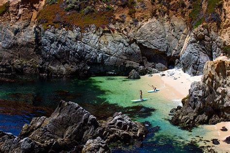 paddleboard  californias big sur coast