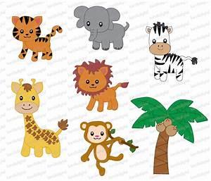 Cute Rainforest Animals Clipart