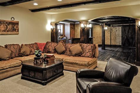 luxury finished basement natural stone wine cellar