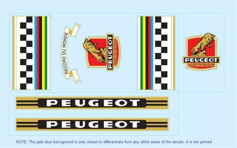 Peugeot Decals by Bicycle Decals For Vintage Classic Contemporary Peugeot
