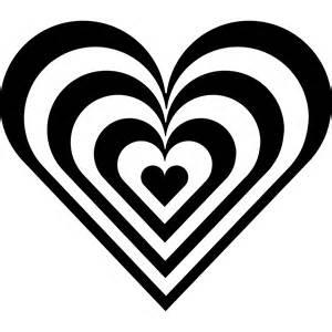 Valentine Heart Clip Art Black and White
