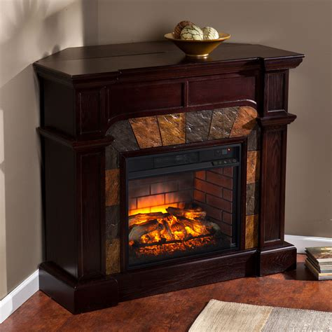 corner electric fireplace cartwright wall or corner infrared electric fireplace