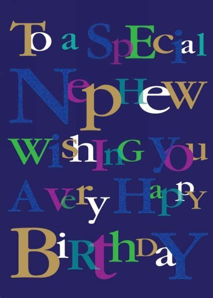 ling design nephew happy birthday card happy birthday
